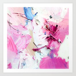 Pinky Swear (Abstract Paint Photograph) Art Print