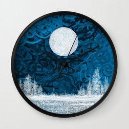 Full moon night Wall Clock