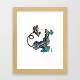 El Drac, Antoni Gaudi, Park Guell, Barcelona Framed Art Print