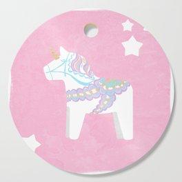 Unicorn Dala Cutting Board