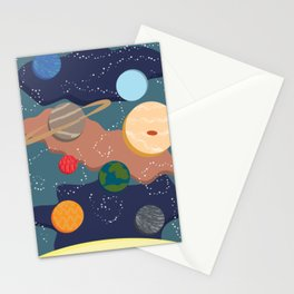 Offset Solar System Stationery Cards