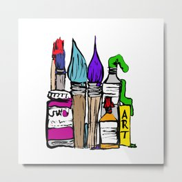 Art About Art 1 in Colour Metal Print