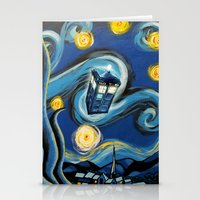 targaryen Stationery Cards featuring Tardis Starry Night by DavinciArt