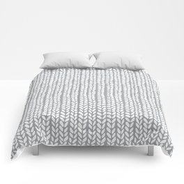 Knit Wave Grey Comforters
