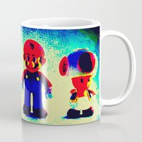 mario bros Mugs featuring Super Mario Bros. by Silvio Ledbetter