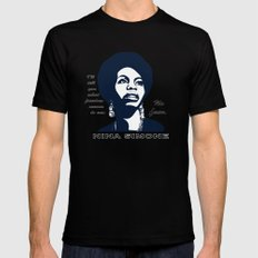 Nina Simone No Fear Black Mens Fitted Tee X-LARGE