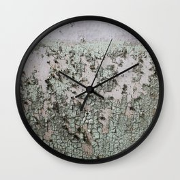 Muted Green Gradient Wall Clock