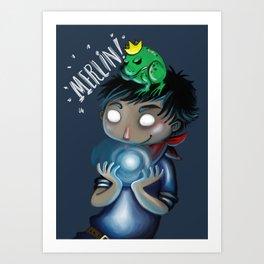 Merlin!!! Art Print