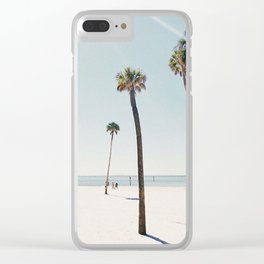 Summer Palm Trees Clear iPhone Case