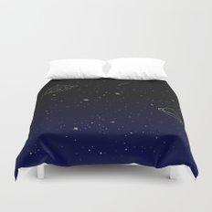 Space Trip to Saturn Duvet Cover