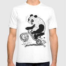 Dirt Jump Panda Mens Fitted Tee White MEDIUM
