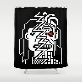 Teletext Monster Girl Shower Curtain