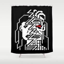 Teletext Monster Girl Shower Curtain