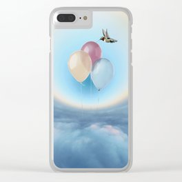 Ballons in the sky Clear iPhone Case