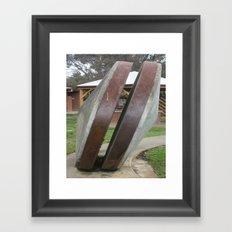 Chilean Mill Wheels Framed Art Print
