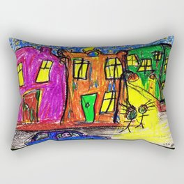We live in the City Rectangular Pillow