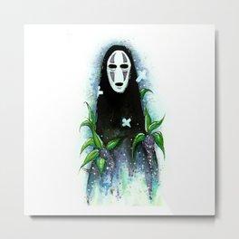Kaonashi - No Face Metal Print