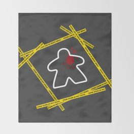 Dead Meeple Crime Scene Throw Blanket