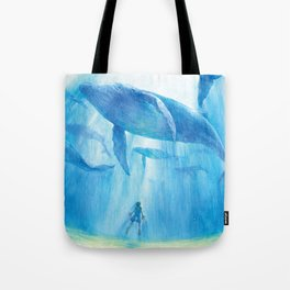 Flying in the sea Tote Bag