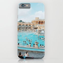 Bathing in Budapest iPhone Case