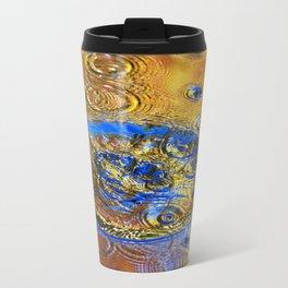 Abstract Water Splash Travel Mug