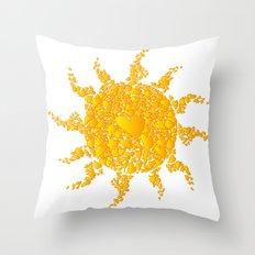 A Sun full of hearts Throw Pillow