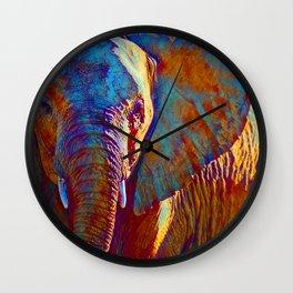 Colorful Elephant Print Wall Clock