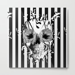 Limbo, Skull with poppy eyes Metal Print