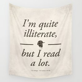 Salinger's The Catcher in the Rye - Literary quote art, bookish gift, modern home decor Wall Tapestry