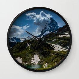 The Matterhorn Zermatt Switzerland Wall Clock