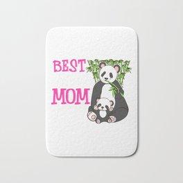 Cute Best Panda Mom Ever Adorable Panda Family Bath Mat