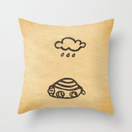 Cranky Turtle Throw Pillow