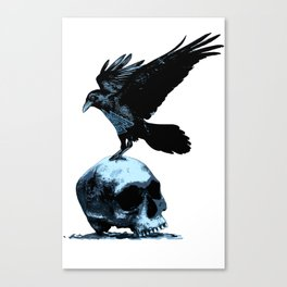 Odin's Raven and Skull Canvas Print
