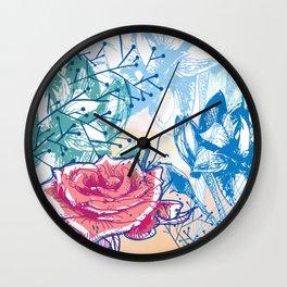 Blossoming rose Wall Clock