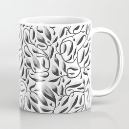 Silver Leaf Weave Coffee Mug