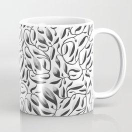 Silver Leaf Weave Coffee Mug