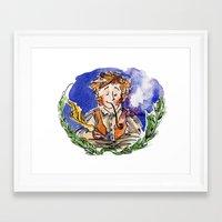 the hobbit Framed Art Prints featuring Hobbit by Kris-Tea Books