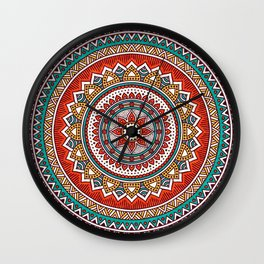 Hippie Mandala 6 Wall Clock