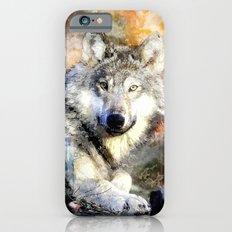 Wolf Animal Wild Nature-watercolor Illustration iPhone 6 Slim Case
