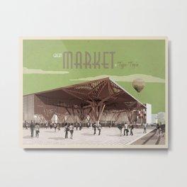 TypeTopia Market 1 Metal Print