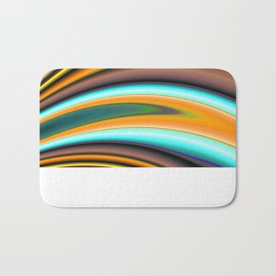 Abstract Fractal Colorways 01BR Bath Mat