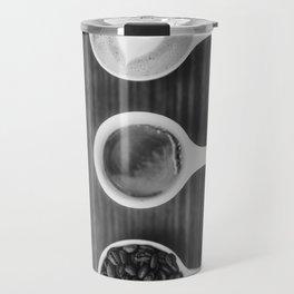 Three Coffee (Black and White) Travel Mug