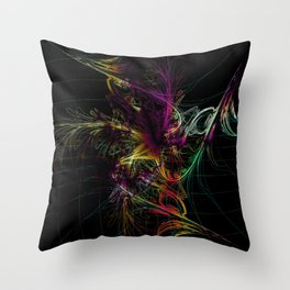 fantastic fireworks Throw Pillow