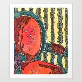 Red Chair Art Print