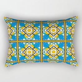 Vintage Majolica Tiles Rectangular Pillow
