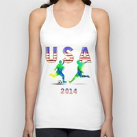 usa Tank Tops featuring USA by Robin Curtiss