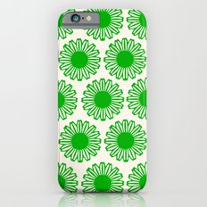 vintage flowers green iPhone 6s Slim Case