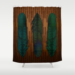 Brass and feathers Shower Curtain