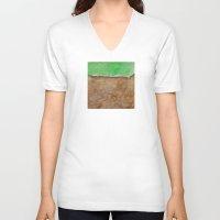 grass V-neck T-shirts featuring Grass by Ana Guillén Fernández