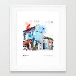 """Paul Wang, """"Pahang Street, Singapore"""" Framed Art Print"""